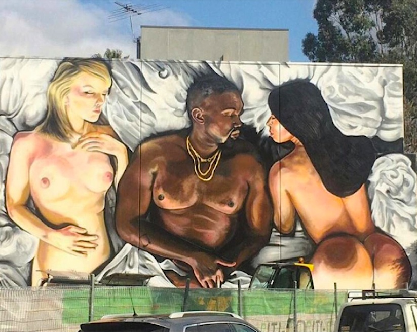 Mural_Inspired_by_Kanye_Wests_Infamous_Clip_from_Street_Artist_Lushsux_in_Melbourne_Australia_2016_01