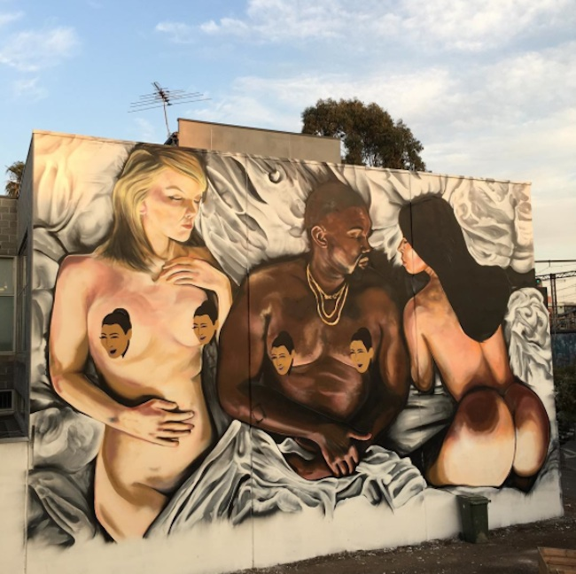 Mural_Inspired_by_Kanye_Wests_Infamous_Clip_from_Street_Artist_Lushsux_in_Melbourne_Australia_2016_06