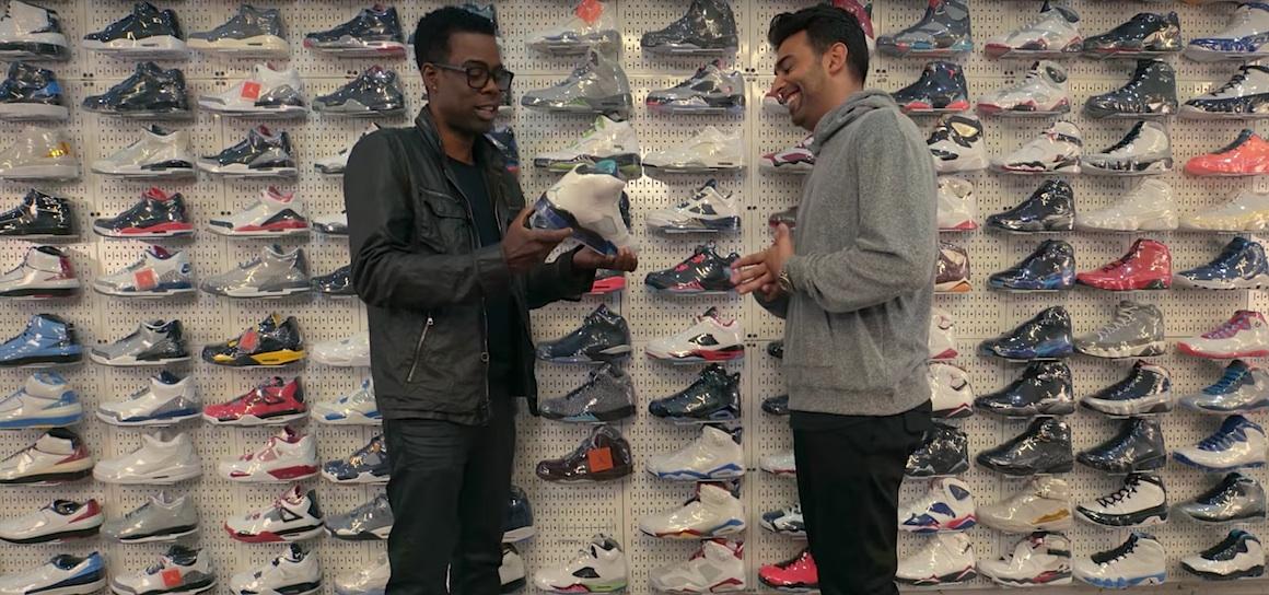 kicks aa547 d369d chris rock sneaker shopping complex