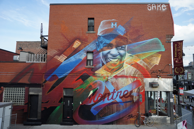 Awesome new wallart pieces at mural international public for Art mural montreal