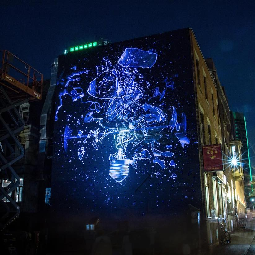 Awesome new wallart pieces at mural international public for Mural festival
