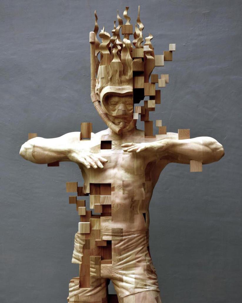 wooden glitches die imposanten holz skulpturen von hsu tung han. Black Bedroom Furniture Sets. Home Design Ideas