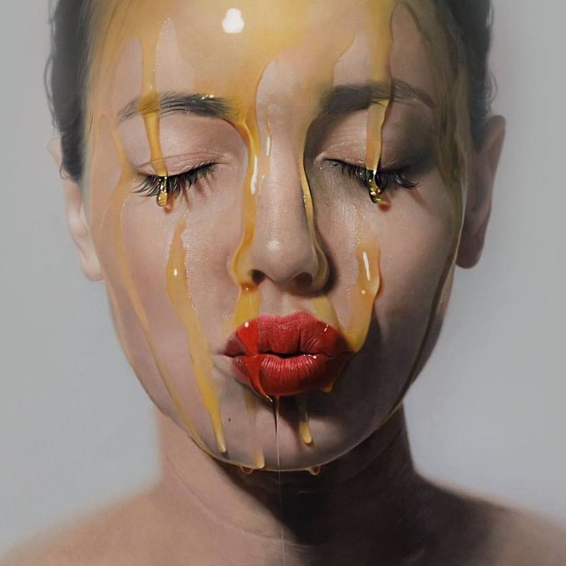 Künstler Köln neue hyperrealistische öl gemälde künstler mike dargas aus köln