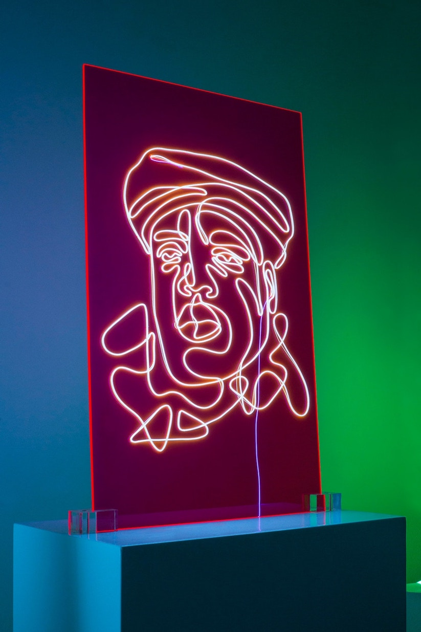 "Neon Rap Portraits"" …aus Elektrolumineszenz-Draht auf ..."