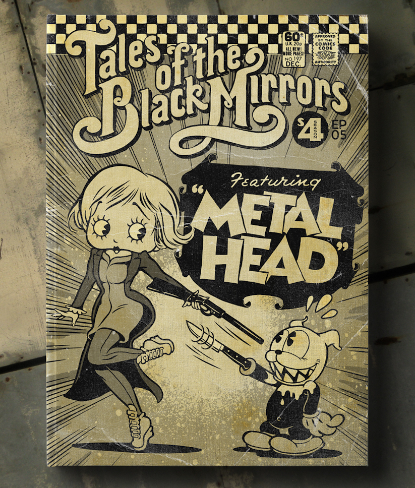 "Book Cover Black Mirror : ""tales of the unexpected black mirrors"" vintage comic"