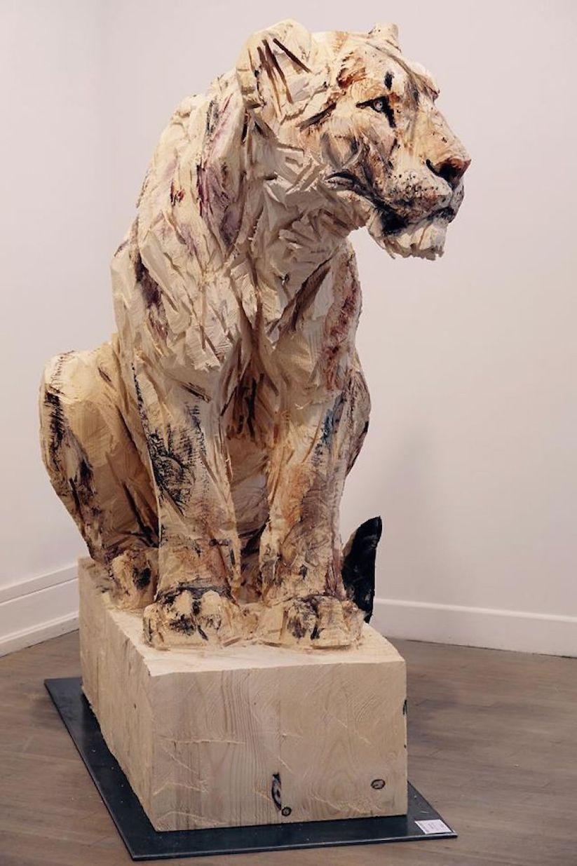 Jürgen Lingl Rebetez Kreiert Beeindruckende Skulpturen Aus Holz Mit