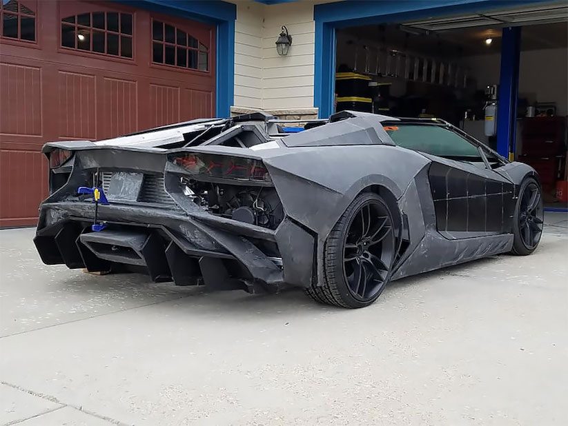Ein Lamborghini Aventador Aus Dem 3d Drucker