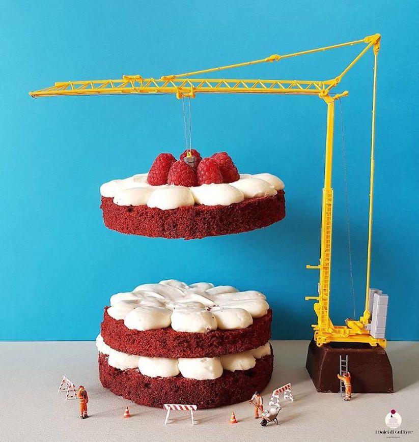 Fine Kulinarische Mini Installationen Von Konditormeister Matteo Stucchi Funny Birthday Cards Online Overcheapnameinfo