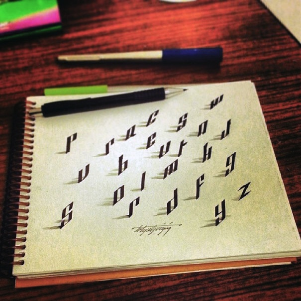 3D_Calligraphy_Letters_Seem_To_Peel_Off_The_Page_by_Tolga_Girgin_2014_01