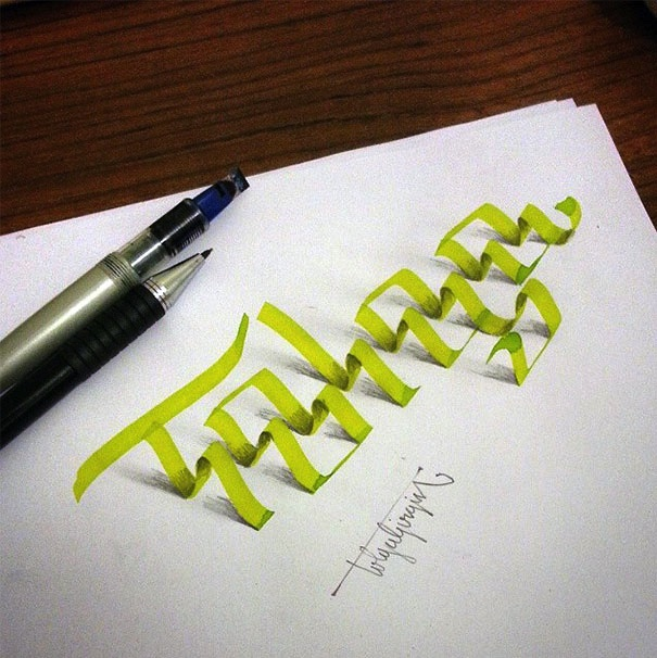 3D_Calligraphy_Letters_Seem_To_Peel_Off_The_Page_by_Tolga_Girgin_2014_02