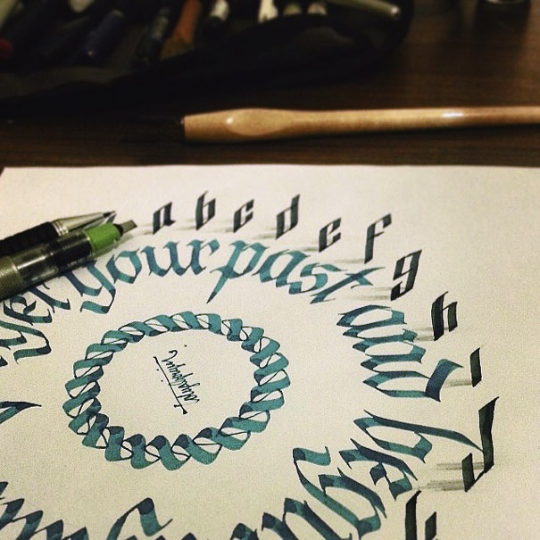 3D_Calligraphy_Letters_Seem_To_Peel_Off_The_Page_by_Tolga_Girgin_2014_03