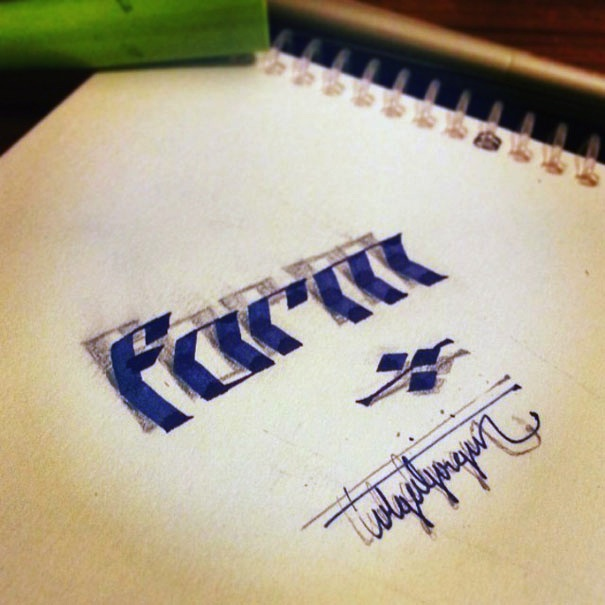 3D_Calligraphy_Letters_Seem_To_Peel_Off_The_Page_by_Tolga_Girgin_2014_05