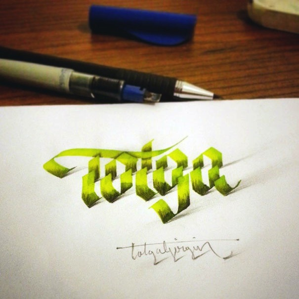 3D_Calligraphy_Letters_Seem_To_Peel_Off_The_Page_by_Tolga_Girgin_2014_06