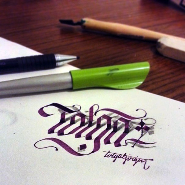 3D_Calligraphy_Letters_Seem_To_Peel_Off_The_Page_by_Tolga_Girgin_2014_07