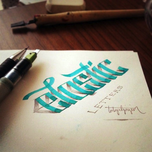 3D_Calligraphy_Letters_Seem_To_Peel_Off_The_Page_by_Tolga_Girgin_2014_08