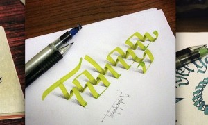 3D_Calligraphy_Letters_Seem_To_Peel_Off_The_Page_by_Tolga_Girgin_2014_header