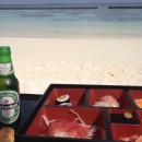 Die Restaurants liefern übrigens auch alles direkt an den Strand.