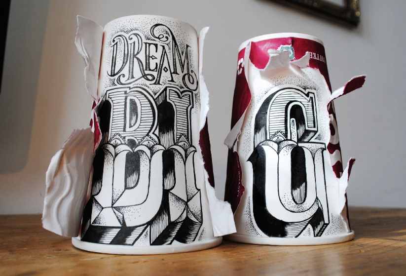 Coffee_Time_Typographic_Art_on_Discarded_Coffee_Cups_by_Rob_Draper_2014_05