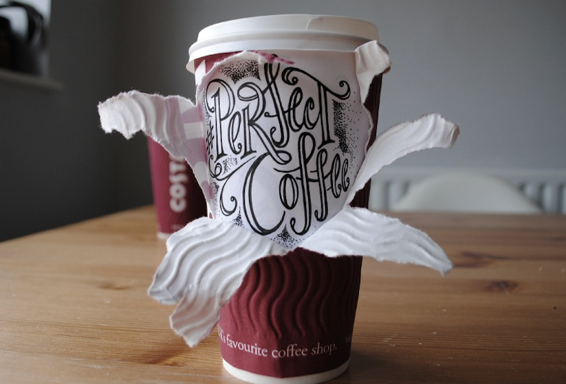 Coffee_Time_Typographic_Art_on_Discarded_Coffee_Cups_by_Rob_Draper_2014_07