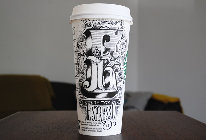 Coffee_Time_Typographic_Art_on_Discarded_Coffee_Cups_by_Rob_Draper_2014_09