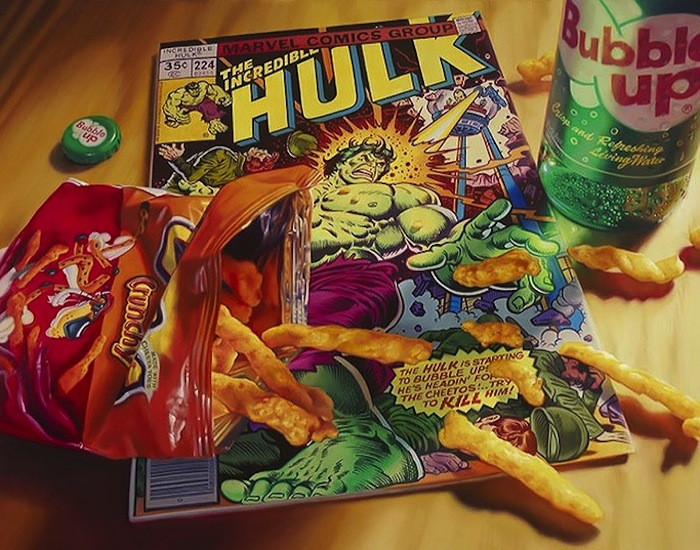 Hyper_Realistic_Paintings_Of_Old_School_Snacks_And_Comics_2014_01