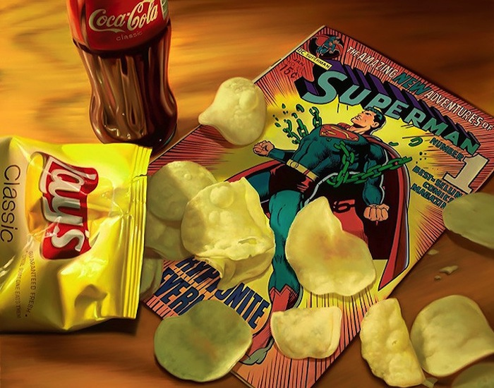 Hyper_Realistic_Paintings_Of_Old_School_Snacks_And_Comics_2014_02