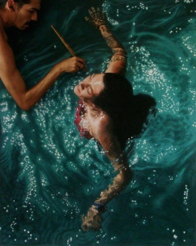 Hyperrealistic_Oil_Paintings_Of_People_Swimming_by_Gustavo_Silva_Nunez_2014_11