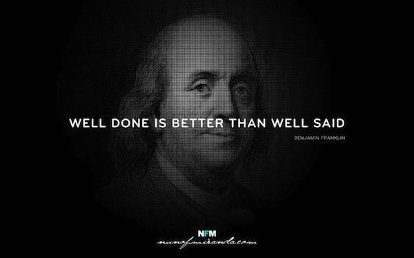 "Well Done Is Better Than Well Said"" – Inspirational Typo-Quotes by ..."