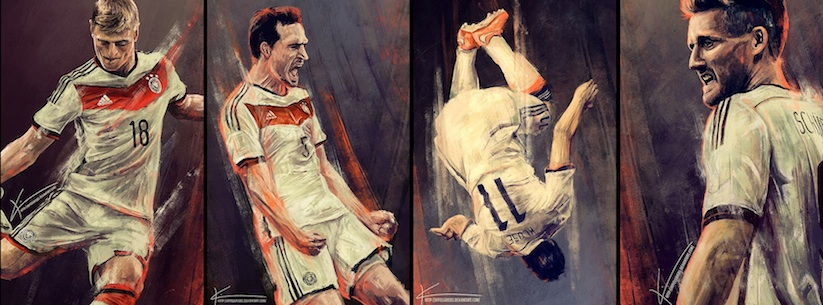 Paintings_Of_Germanys_Players_Celebrating_Its_World_Cup_Victory_by_Kim_Christensen_2014_07