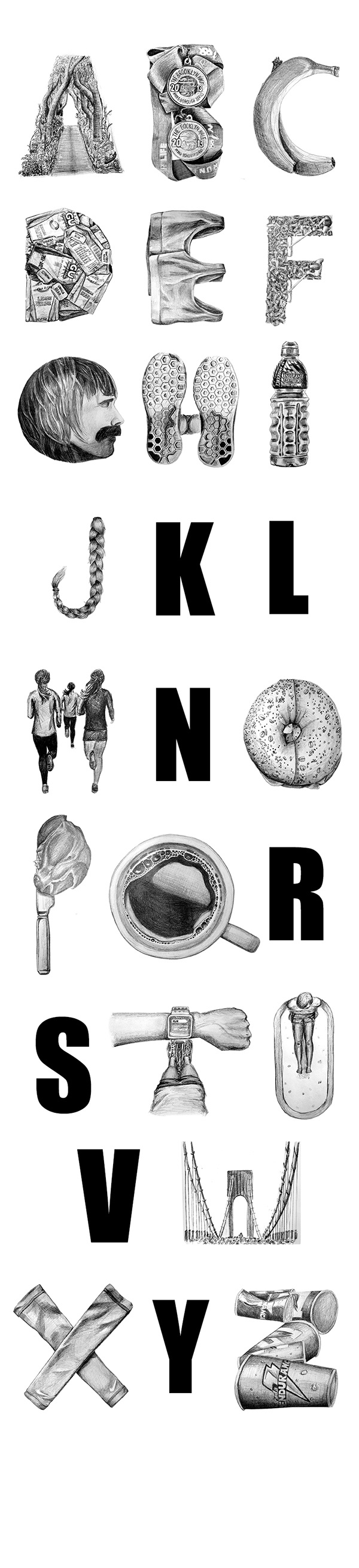 Runners_Alphabet_Letters_Illustrated_Of_Items_Related_To_Runners_by_Sarah_FitzPatrick_2014_11