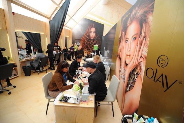 P&G Salon Visit During Sponsored Mom Brunch