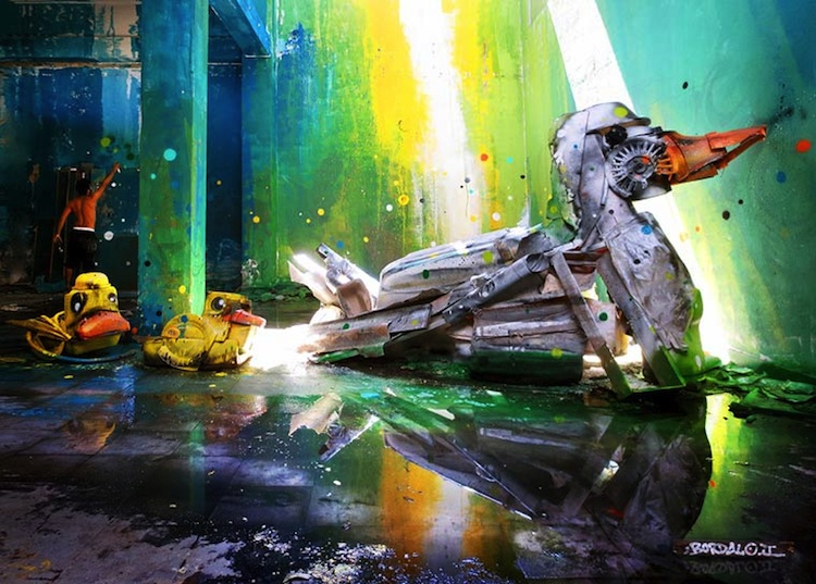 Stunning_3D_Creations_Made_Out_of_Trash_by _Bordalo_II_in_Lisbon_Portugal_2014_02