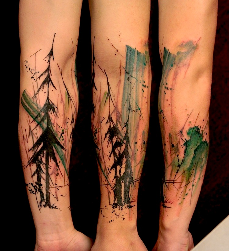 Thrilling_Tattoos_inspired_by_Streetart_Stencils_Watercolor_Art_2014_10