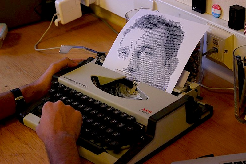 Typewritten_Portraits_BW_Portraits_Of_Literary_Authors_Created_With_A_Typewriter_2014_01