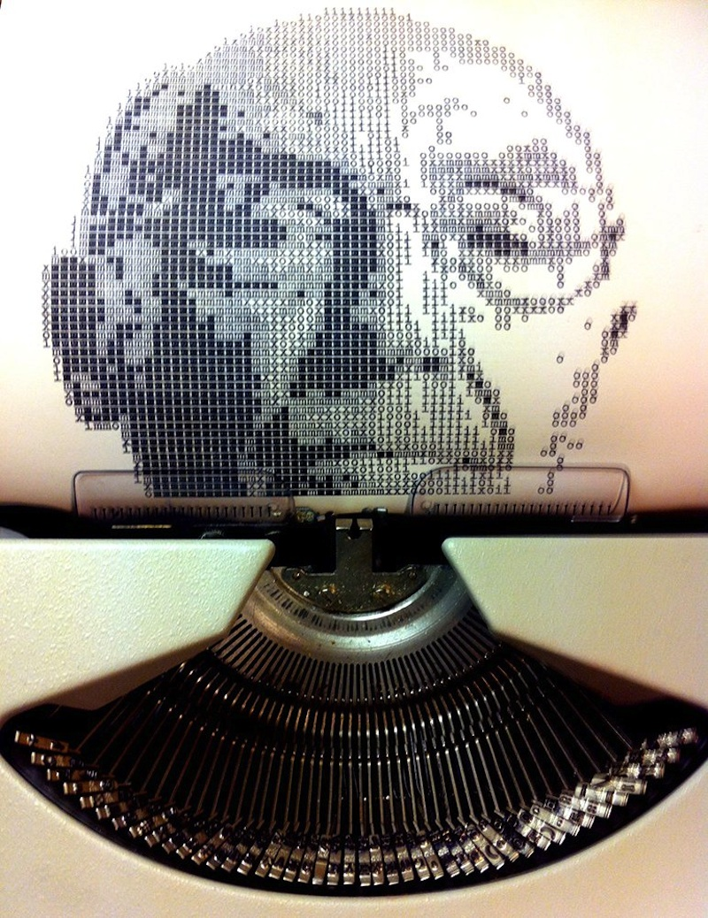 Typewritten_Portraits_BW_Portraits_Of_Literary_Authors_Created_With_A_Typewriter_2014_05