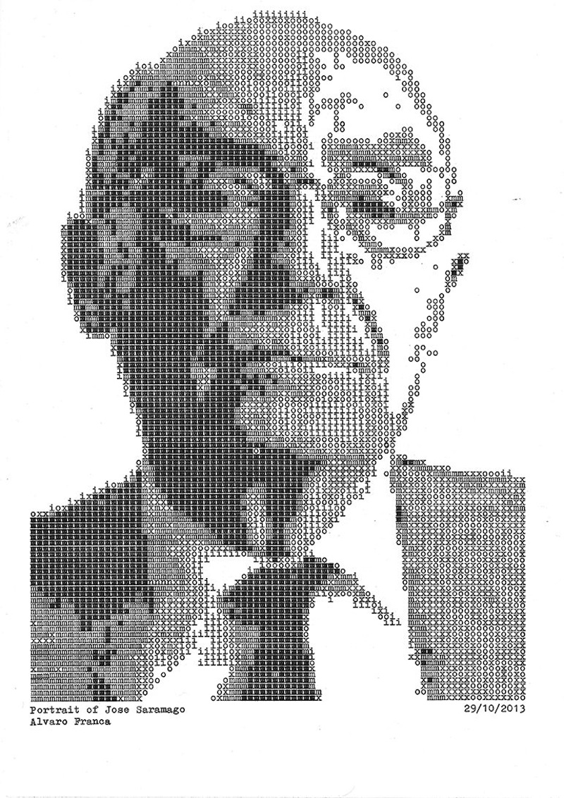 Typewritten_Portraits_BW_Portraits_Of_Literary_Authors_Created_With_A_Typewriter_2014_06