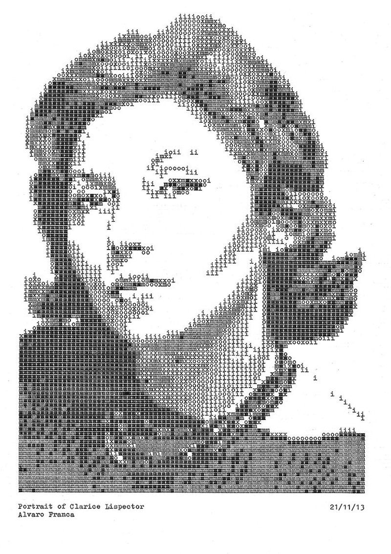 Typewritten_Portraits_BW_Portraits_Of_Literary_Authors_Created_With_A_Typewriter_2014_08