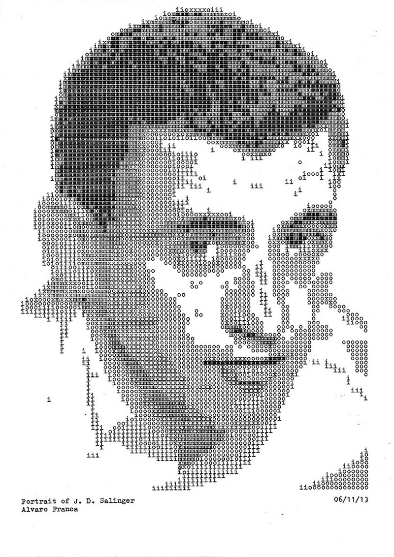Typewritten_Portraits_BW_Portraits_Of_Literary_Authors_Created_With_A_Typewriter_2014_09