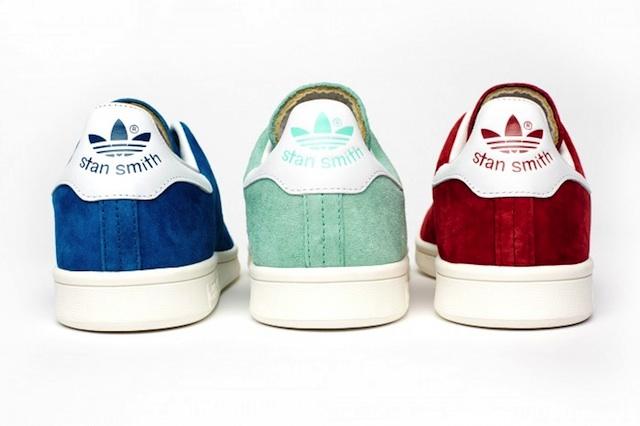 Adidas Stan Smith Blau Wildleder