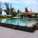 Der Hauptpool des Resorts