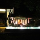 Pool + Villa @ Night.