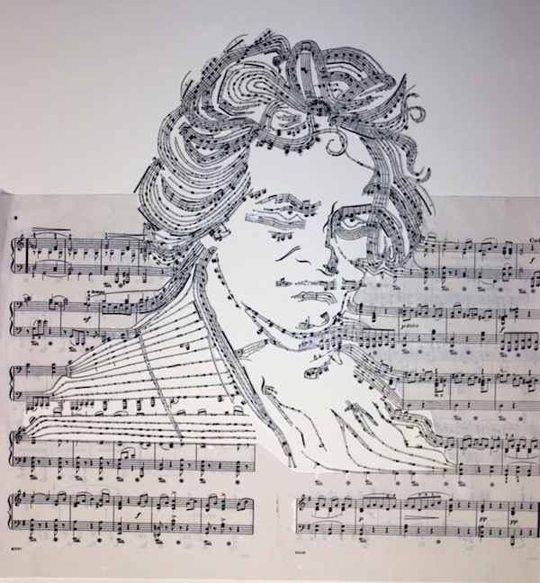 253 Best Images About Piano Music On Pinterest: Beethoven Made Of His Own Musical Notes (Beethoven