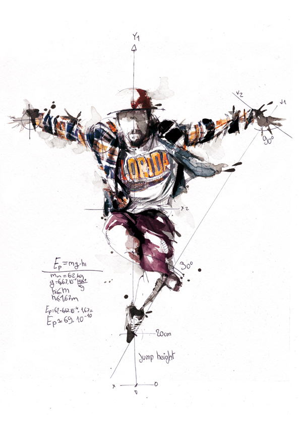 Kinetic Breakdance Illustrations By Florian Nicolle 16