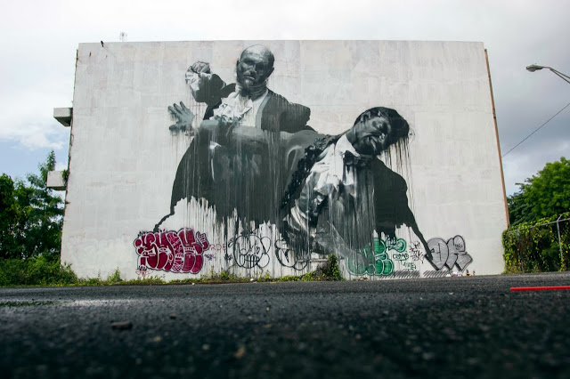 Streetart conor harrington san juan fight club i ii for Club de suscriptores mural
