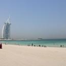Jumeirah Public Beach - hinten der Burj Al Arab