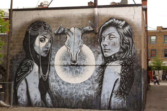 streetart fin dac x angelina christina � new mural in