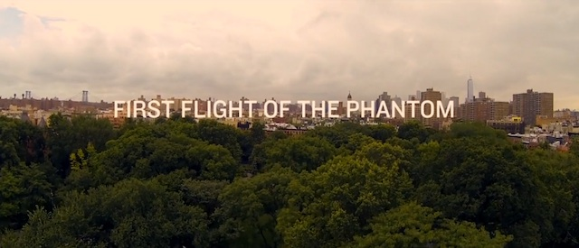 first flight of the phantom with a quadcopter above new york clip. Black Bedroom Furniture Sets. Home Design Ideas