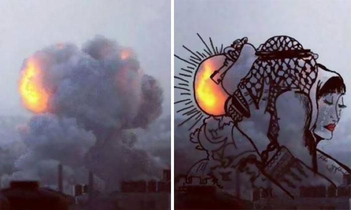 gaza_israel_rocket_smoke_art_11