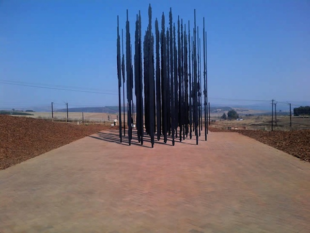 Nelson Mandela Memorial Sculpture Made From Prison Bars