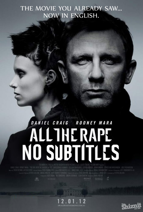 Honest Movie Posters - Girl With the Dragon Tattoo